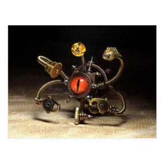 Cartão Postal Robô do espectador de Steampunk