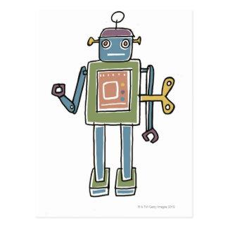 Cartão Postal Robô do maquinismo de relojoaria