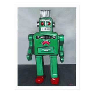 Cartão Postal Robô verde