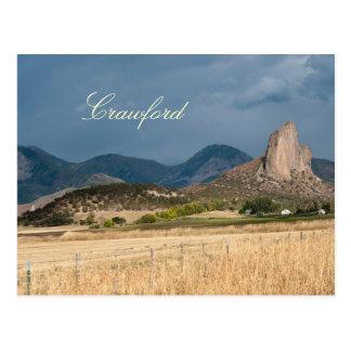 Cartão Postal Rocha da agulha em Crawford, Colorado