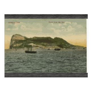 Cartão Postal Rocha da baía, vintage de Gibraltar