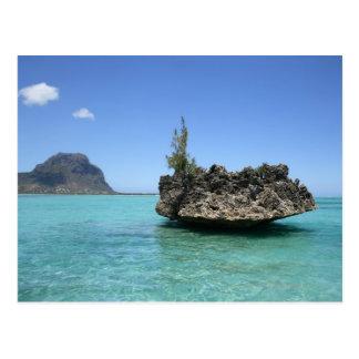 Cartão Postal Rocha de cristal compor do coral