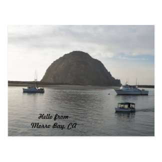 Cartão Postal Rocha de Morro na baía de Morro, CA