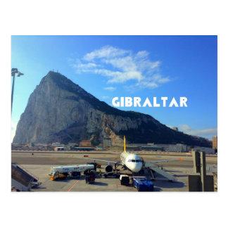 Cartão Postal Rocha do aeroporto de Gibraltar