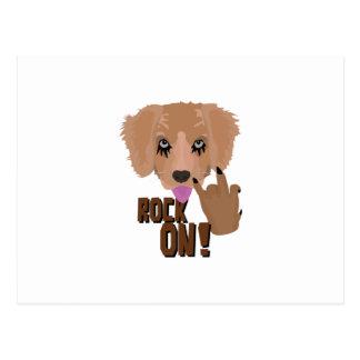 Cartão Postal Rocha do filhote de cachorro do metal pesado sobre