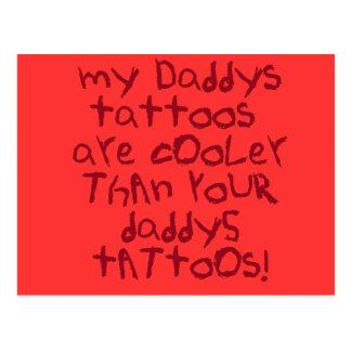 Cartão Postal Rocha dos tatuagens de Daddys