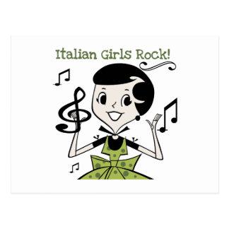 Cartão Postal Rocha italiana das meninas