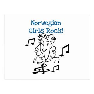 Cartão Postal Rocha norueguesa das meninas