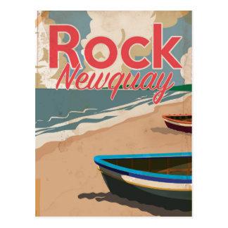 Cartão Postal Rocha, poster de viagens da locomotiva do vintage
