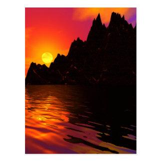 Cartão Postal Rochas 1 do por do sol