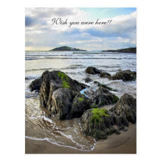 Cartão Postal Rochas de Bantham à ilha do Burgh