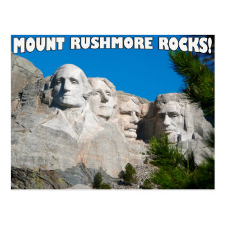 Cartão Postal Rochas do Monte Rushmore! O Monte Rushmore, South