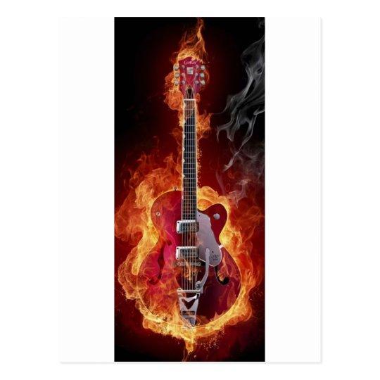 Cartão Postal Rock and roll   guitara