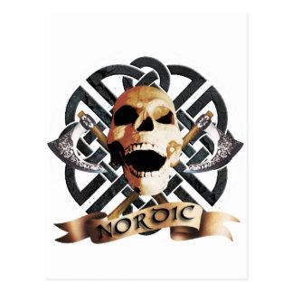 Cartão Postal rock skull