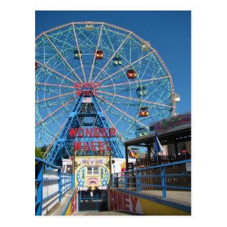 Cartão Postal Roda da maravilha de Coney Island