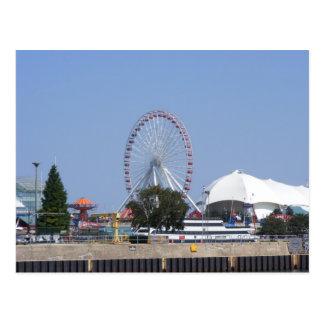 Cartão Postal Roda de Ferris do cais do marinho