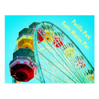 Cartão Postal Roda de Ferris no cais de Santa Monica, Califórnia