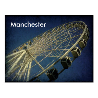 Cartão Postal Roda de Manchester
