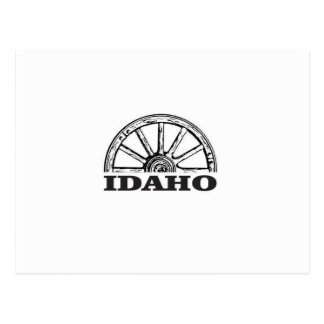 Cartão Postal Roda de vagão de Idaho