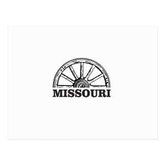 Cartão Postal roda de vagão de missouri