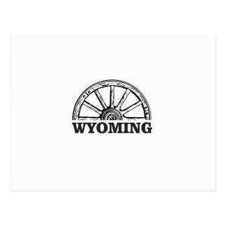 Cartão Postal roda de wyoming