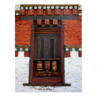 Cartão Postal Rodas de oração no templo