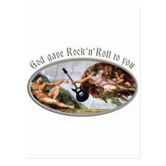 Cartão Postal Rodas to God rock gave and you