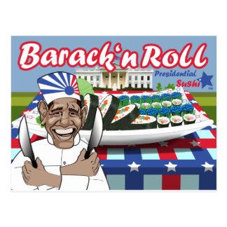 Cartão Postal Rolo do n de Barack do sushi presidencial