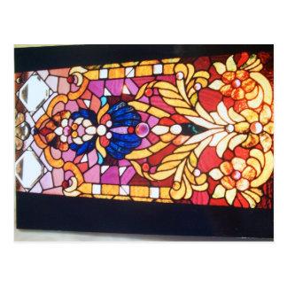 Cartão Postal Rolos, flores e janela das jóias