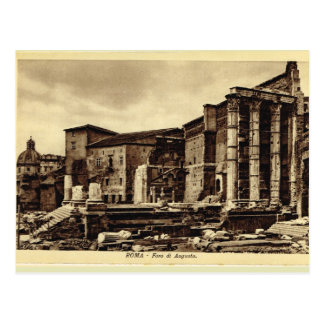 Cartão Postal Roma, fórum de Augustus