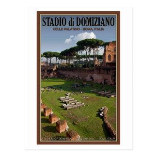 Cartão Postal Roma - palácio de Domitian - o estádio