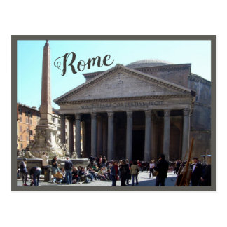 Cartão Postal Roma (panteão) com texto