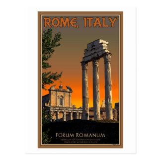 Cartão Postal Roma - ruínas do templo no fórum Romanum
