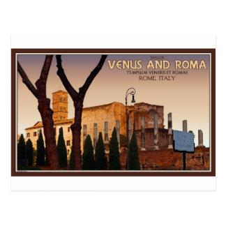 Cartão Postal Roma - templo de Venus e de Roma