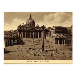 Cartão Postal Roma, vaticano, o quadrado de St Peter