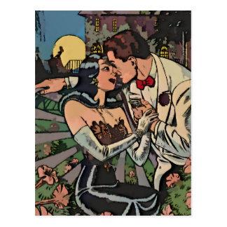 Cartão Postal Romance no luar