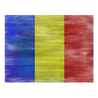 Cartão Postal Romania afligiu a bandeira romena