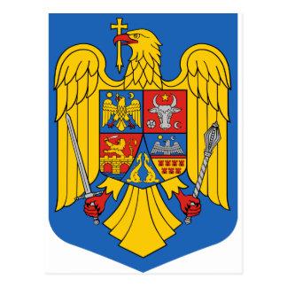 Cartão Postal Romania - brasão. Emblema
