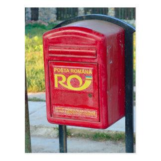 Cartão Postal Romania, caixa do cargo