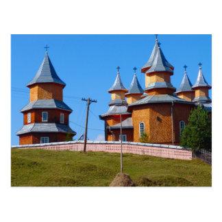 Cartão Postal Romania, igreja nova de A em Moldova rural