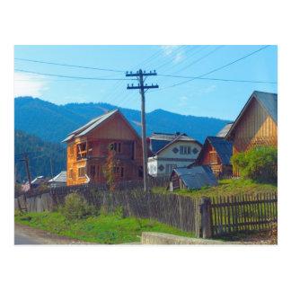 Cartão Postal Romania, Moldova, vila agrícola