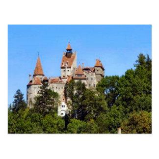 Cartão Postal Romania, o castelo de Dracula, farelo,