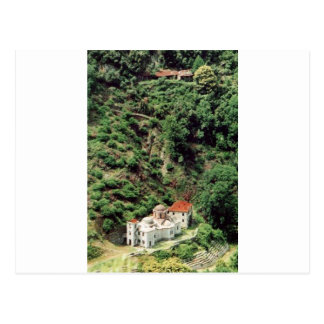 Cartão Postal Romanian Skete Lakkoskiti, em Monte Athos