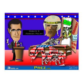Cartão Postal Romney contra o comando O