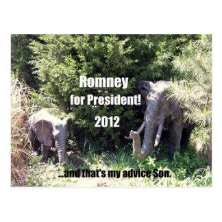Cartão Postal Romney para o presidente - 2012