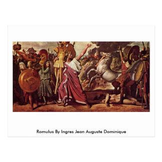 Cartão Postal Romulus por Ingres Jean Auguste Dominique