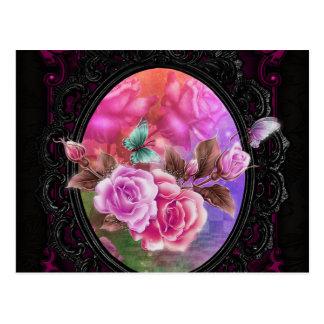 Cartão Postal Rosa cor-de-rosa