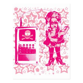 Cartão Postal Rosa da boneca de Berlim-Techno-Tusii