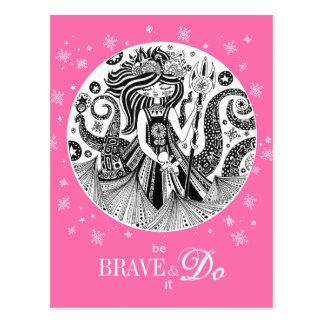 Cartão Postal Rosa da bruxa   do mar do pão-de-espécie