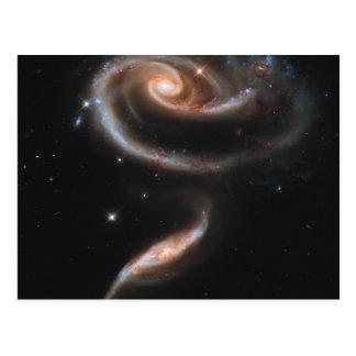 Cartão Postal Rosa das galáxias